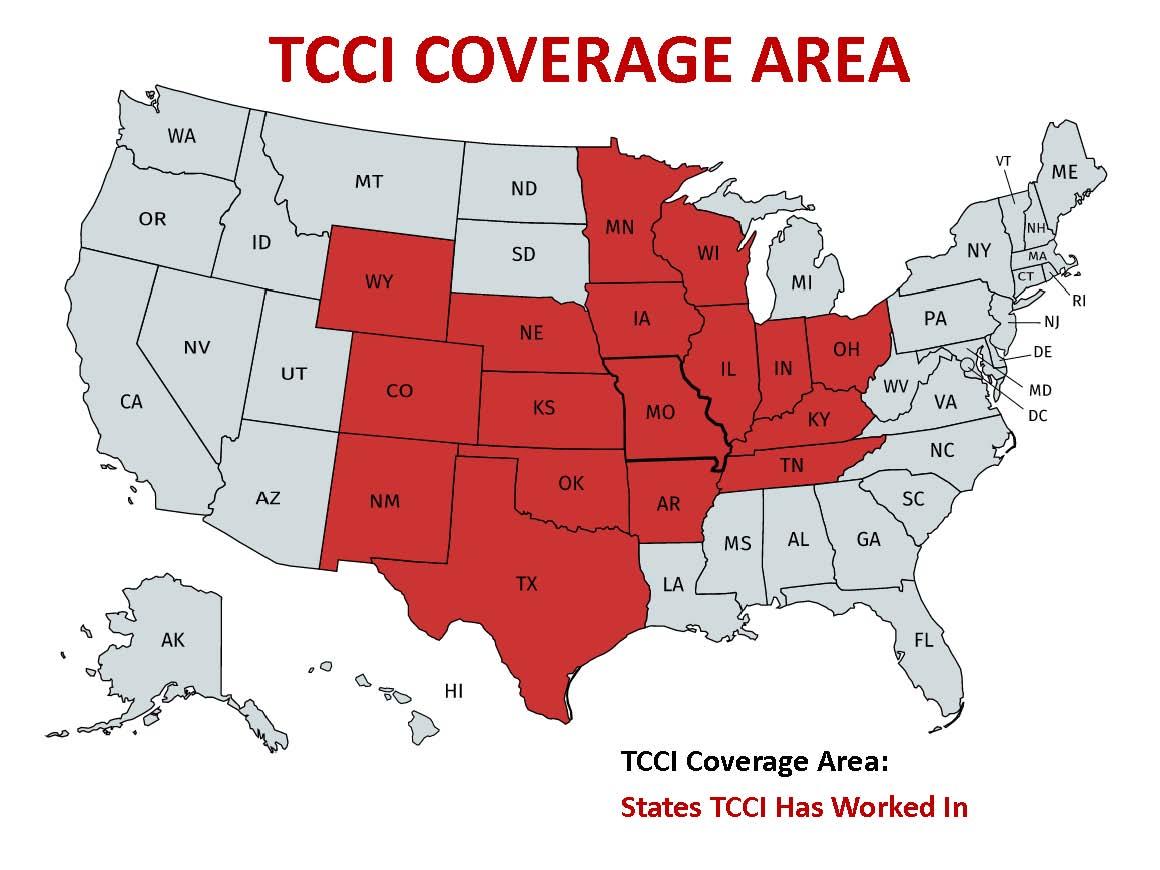 TCCI COVERAGE AREA MAP